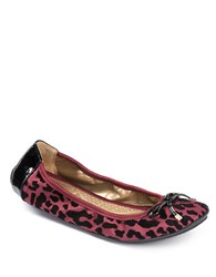Me Too Halle Leopard Print Ballet Flats Red