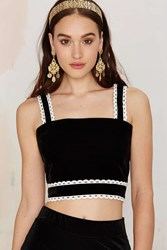 Nasty Gal Better Lace Than Never Crop Top