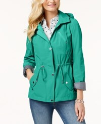 Charter Club Water Resistant Hooded Anorak Jacket Created For Macy's Acadia Green