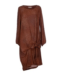 E Go' Sonia De Nisco Knee Length Dresses Cocoa