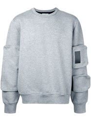 Public School Sleeve Detail Sweatshirt Grey