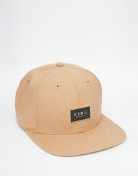 King Apparel Gold Seal Snapback Cap Tan