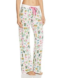 Pj Salvage Printed Drawstring Pants Ivory