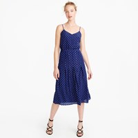 J.Crew Spaghetti Strap Dress In Polka Dot