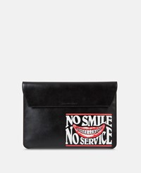 Stella Mccartney Black No Smile No Service Envlelope Case