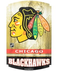 Wincraft Chicago Blackhawks Wood Sign