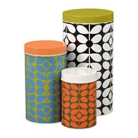 Orla Kiely 60'S Stem Canisters Set Of 3