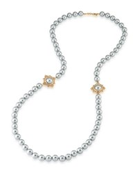 Carolee 12K Goldplated Faux Pearl Rope Necklace