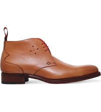 Jeffery West Dexter Chukka Leather Boots Tan