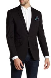 Suslo Couture Long Sleeve Solid Blazer Black