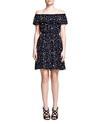 The Kooples Tattoo Print Silk Dress Black