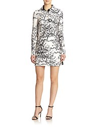 Diane Von Furstenberg London Wool And Silk Printed Shirtdress Toile Mead