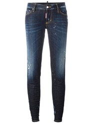Dsquared2 Jennifer Light Splatter Jeans Blue