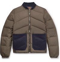 The Workers Club Reversible Quilted Shell Down Jacket Army Green