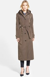 Women's London Fog Long Single Breasted Trench Coat With Inset Bib Online Only