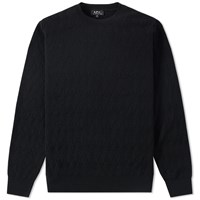 A.P.C. Pavel Crew Knit Black
