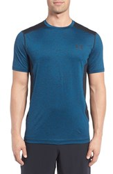 Under Armour Men's 'Raid' Heatgear Training T Shirt Peacock