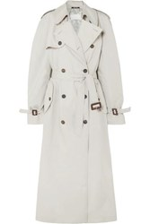 Maison Martin Margiela Cotton Blend Trench Coat Beige