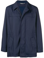 Canali Straight Fit Lightweight Jacket Blue