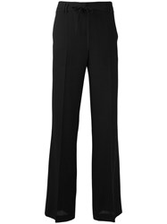 Ann Demeulemeester Wide Leg Tailored Trousers Black