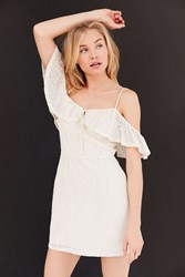 Kimchi And Blue Cold Shoulder A Line Mini Dress Ivory