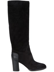 Sergio Rossi Knee High Boots Black