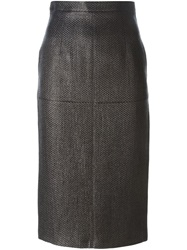 Amen Midi Pencil Skirt Black