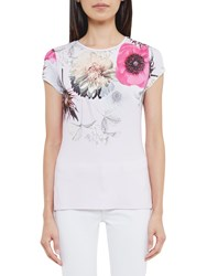 Ted Baker Gulesa Neon Poppy Fitted T Shirt Pink