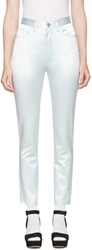 Marc Jacobs Blue Satin Skinny Trousers
