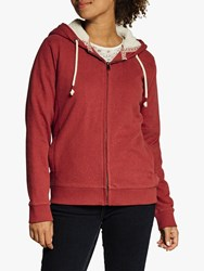 Fat Face Kendal Zip Hoodie Red