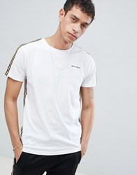 Bellfield T Shirt With Arm Tape In White
