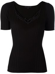 Alexander Wang Tribal Tattoo Neck Detail Top Black