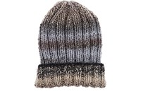 Grevi Men's Ombre Striped Wool Blend Cap Grey