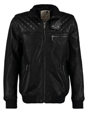 Solid Leather Jacket Black