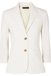 The Row Schoolboy Stretch Wool Blend Crepe Blazer White