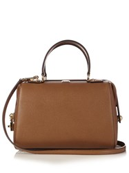 Dolce And Gabbana Bowling Grained Leather Tote Camel