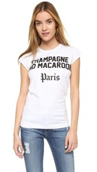 Happiness Champagne And Macaroons Tee White