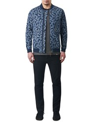Pretty Green Forrester Paisley Bomber Jacket Blue