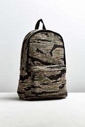 Urban Outfitters Uo Camo Embroidered Backpack Green