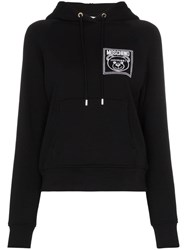 Moschino Teddy Bear Embroidered Hoodie Black