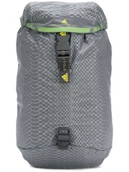 Adidas By Stella Mccartney Snake Print Effect Backpack Grey