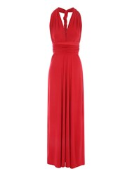 Jane Norman Multiway Maxi Dress Blood Red