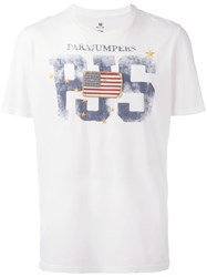 Parajumpers Flag Patch T Shirt White