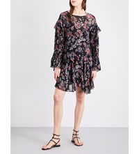 Iro Averen Floral Print Dress Black