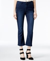 Rachel Roy Cropped Ultramarine Wash Flared Jeans Only At Macy's