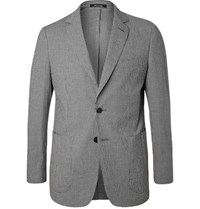 Dunhill Black Checked Stretch Cotton Suit Jacket