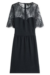 The Kooples Dress With Lace Blue