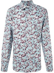 Marni Tree Print Shirt Blue