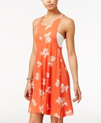 Volcom Juniors' Pine For Me A Line Racerback Shift Dress Red Punch
