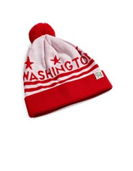 Tuck Shop Co. Washington Striped Knit Beanie White